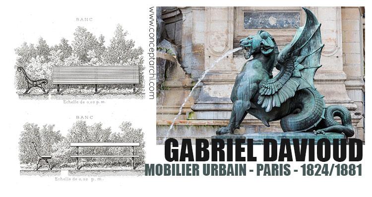 Gabriel Davioud, mobilier urbain